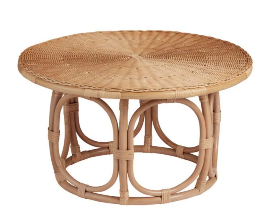Anguilla Rattan Coffee Table Dupes