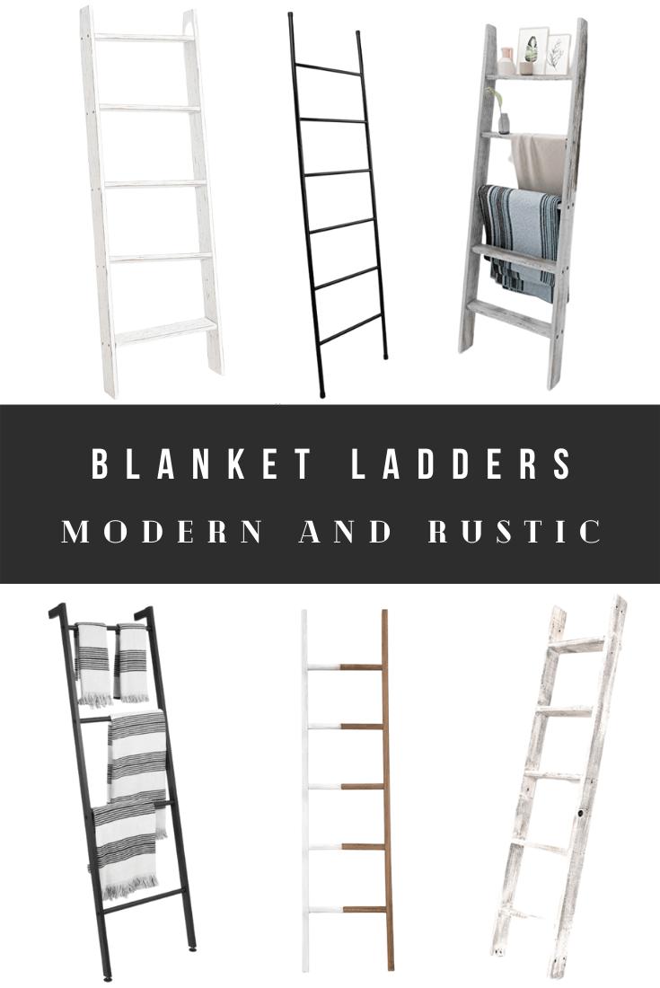 Best Blanket Ladders and Towel Ladders - Modern, Rustic, Farmhouse