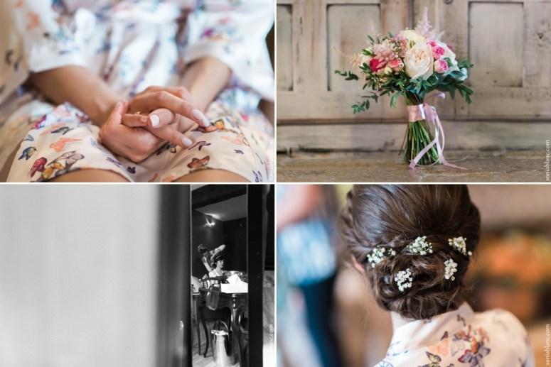 2. preparatifs de la mariée - Mariage à Flavigny sur Ozerain - château de Thenissey