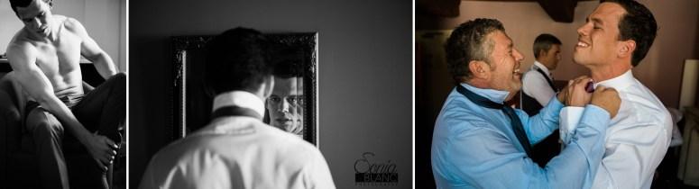 dijon photo mariage champetre habillage du marié - sonia blanc photographe