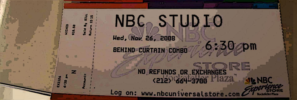 NBC Tour Ticket