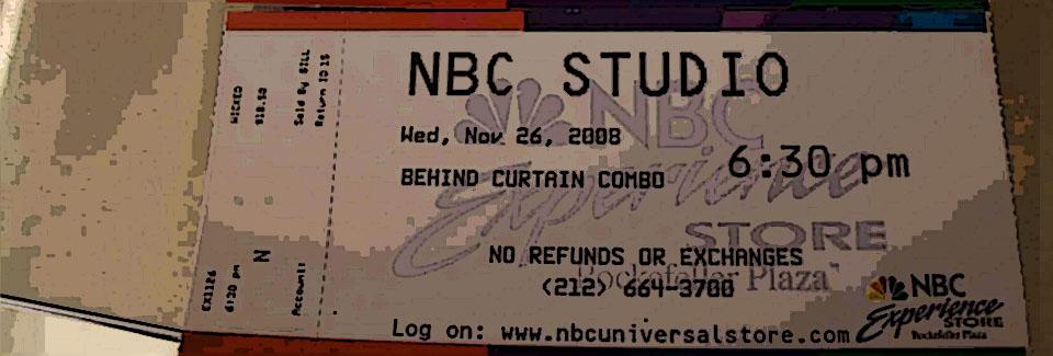 NBC Tour Ticket