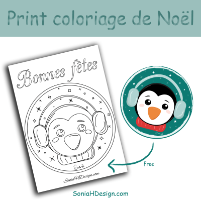 Boule pinguin coloriage BLOG