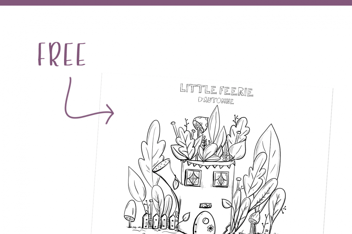 Coloriage d'automne Little Feerie