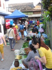 Walking through the morning markets