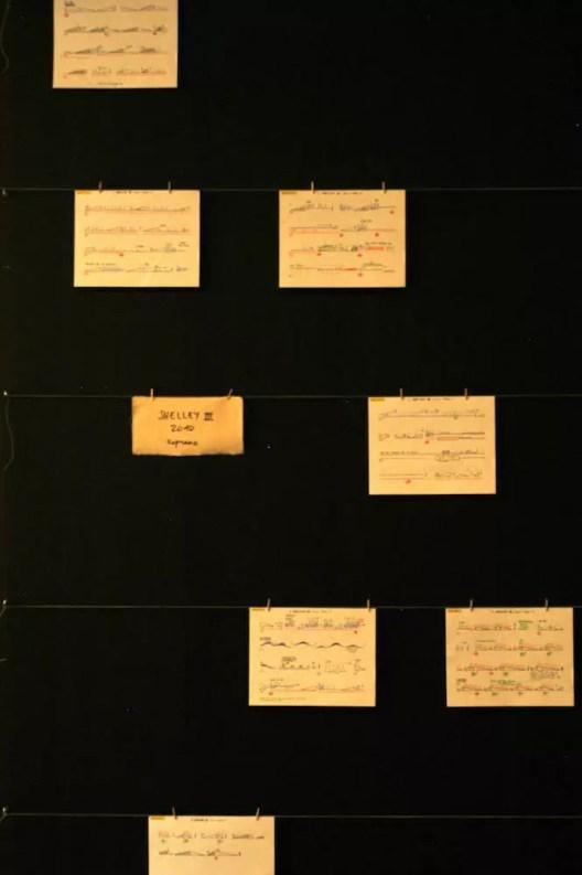 2012'IV'19. III MONO+GRAPHIC en el ICNY - 'Shelley III' - partitura expuesta