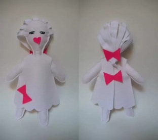 Muñeca blanca, diseñada por Isis Gayo en 2008