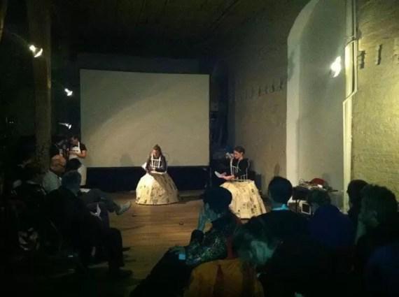 2012'IV'11. II MONO+GRAPHIC. 'Triangle' en Experimental Intermedia, NYC, de lejos