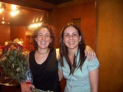 2008'VI. Con Mara Marín, directora del Conservatorio Profesional Maestro Gómez Villa de Cieza, Murcia