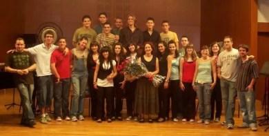 Con mis alumnos en el Conservatorio de Cieza (Murcia), Junio 2008
