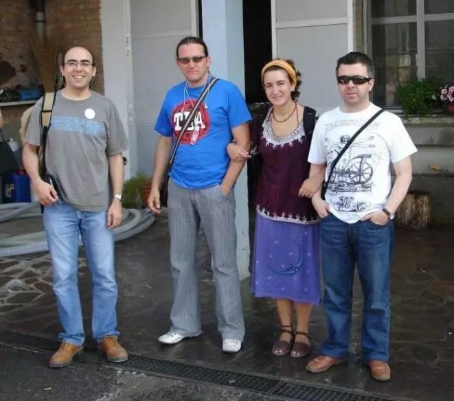 2006'VI. El Almansa Quartet actúa en Italia - los miembros: Jose (contrabajo), Muñoz (batería), Sonia (piano) y Adolfo (saxo)