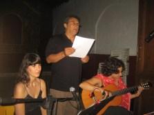 2010'VII'16, Oria. Concierto monográfico de mis canciones 'Darle luz al silencio' - con la soprano Laura Moyano y el poeta Ginés Sánchez