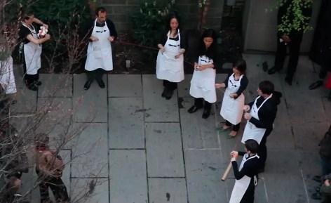 2012'IV'19. III MONO+GRAPHIC en el ICNY - 'The time in a thread' por el CoroDelantal, desde arriba