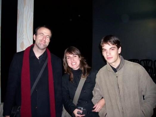 2007'XII. Almansa. Estreno de La mitad del camino en el Teatro Regio - Pablo, Chechi y Rubén