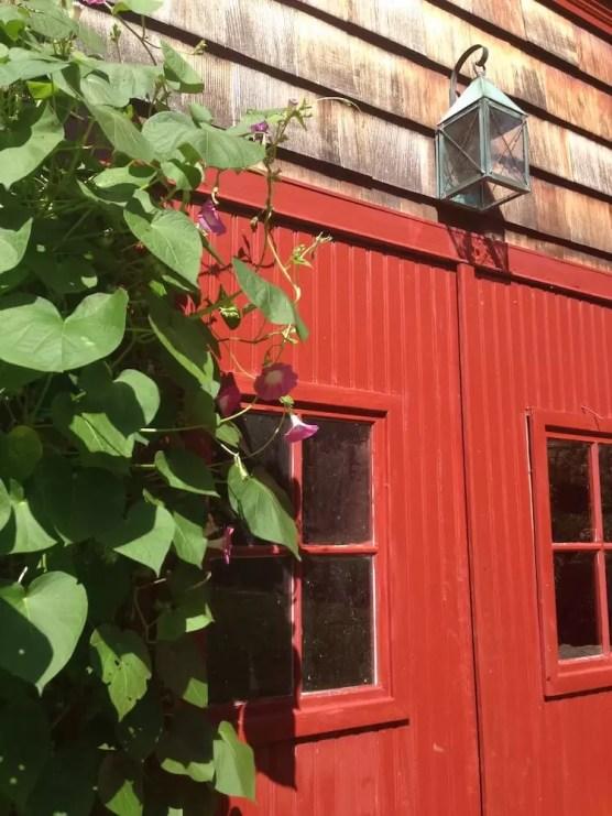 2016'X'11. Dúa de Pel in Connecticut - barn's door