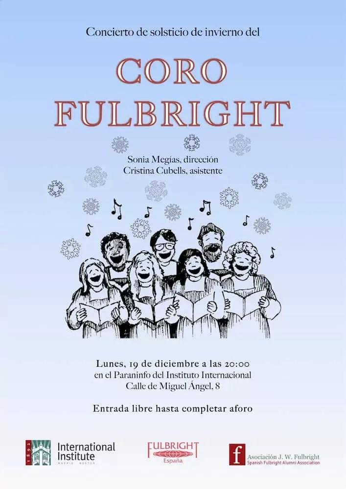 2016'XII'19. Madrid. Concierto del Coro Fulbright por el solsticio de invierno - cartel