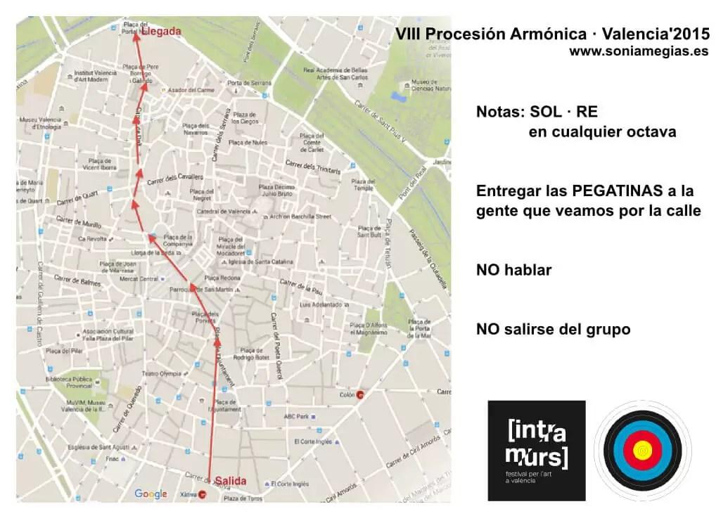 2015'X'31. Valencia. VIII Procesión armónica - recorrido