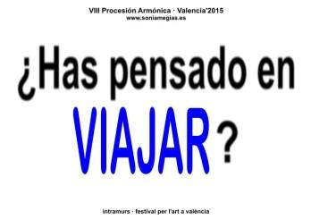 2015'X'31. Valencia. VIII Procesión armónica - pegatina VIAJAR