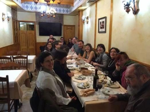 2016'XI'12. Madrid. Cena con Phill Niblock, Katherine Liberovskaya y componentes de la AMEE