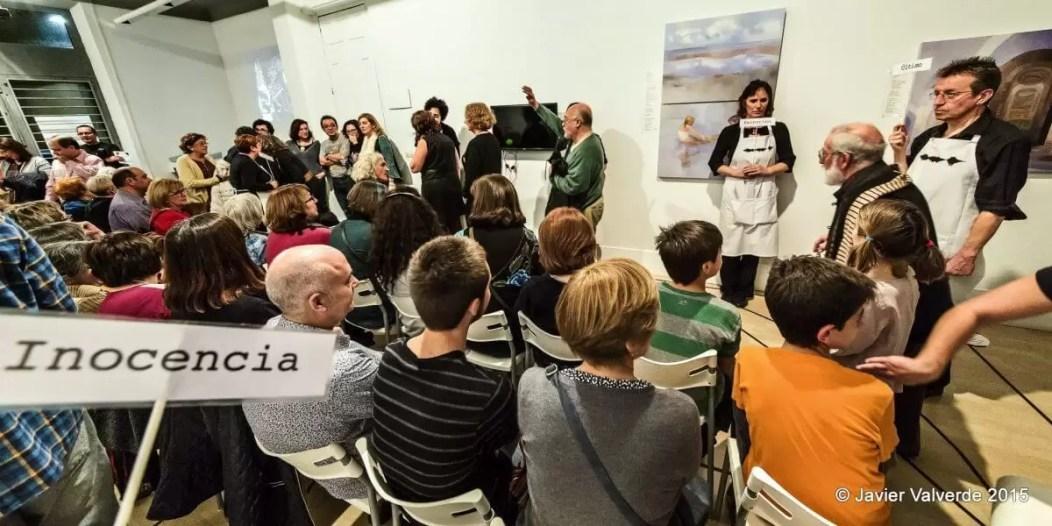 2015'XII'4. Madrid. Bueno por conocer.7 - 'Gallero al oído' de Sonia Megías - 3. Foto: Javier Valverde