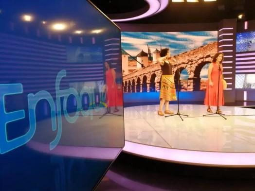 2017'V. Beijing. Dúa de Pel recording at the CCTV - tv set 3