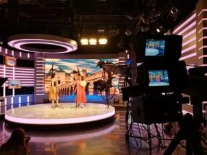 2017'V. Beijing. Dúa de Pel recording at the CCTV - tv set 1