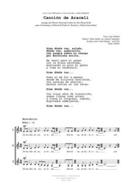 Canción de Araceli (3v)