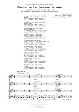 Canción de las jornadas de mayo (4v)