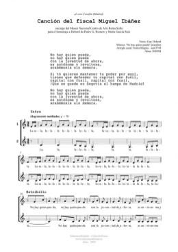 Canción del fiscal Miguel Ibáñez (2v)