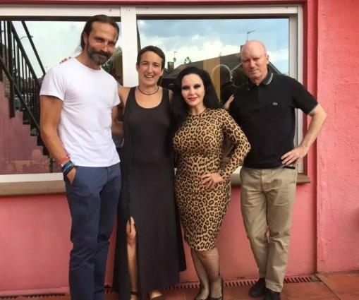 Tras la grabación: Con Juan Pablo de Juan, Alaska y Nacho Canut