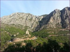 Vista de la Ermita de la Salut desde Collbató
