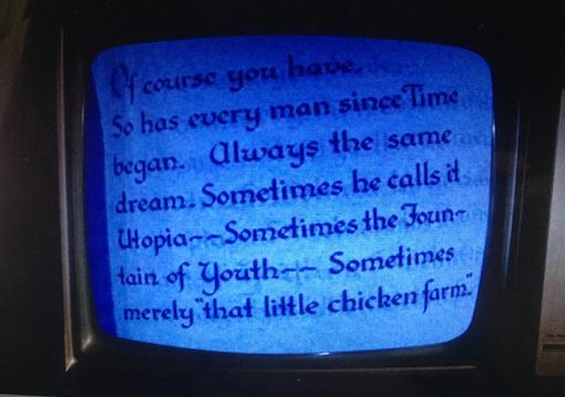 Don mira en la tele 'Lost Horizon'... damos por supuesto que esto va con segundas