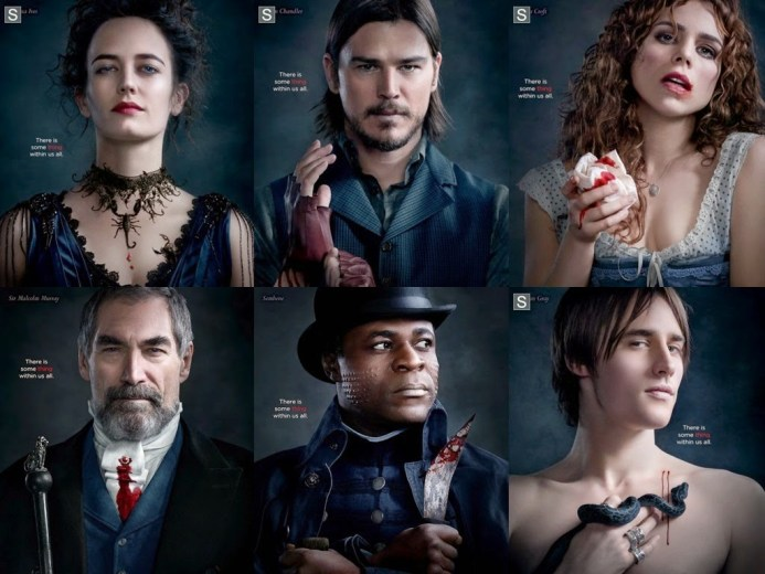 penny dreadful showtime charachters posters