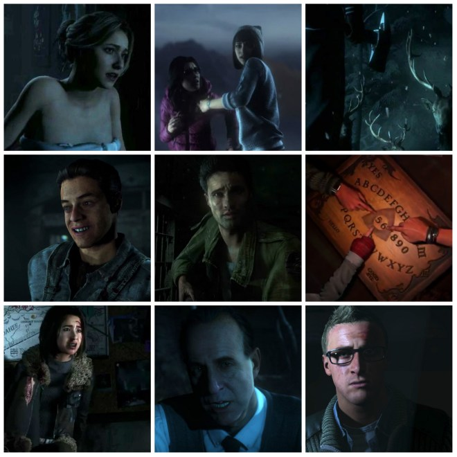 collage until dawn characters
