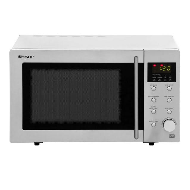 sharp r28stm microwave oven in stainless steel 23l 800w