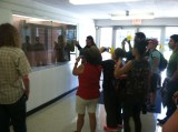 Craig Stone brings conference attendees around the home base of the American Indian Studies department.