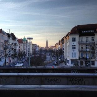 Morning over Friedenau, from S-Bahnhof Bundesplatz