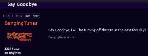 Bangingtunes.com Say Goodbye