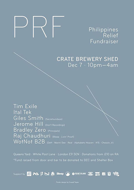 Philippines Relief Fundraiser with Tim Exile (Live), Ital Tek, Giles Smith at Crate Brewery
