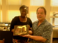 Delores Fisher and SDSU Special Collections Director Robert Ray