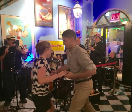 Dancers-Sonido-Costeno-JuanMa-plays-maracas-action-Havana-Centra-Times-Square-restaurant