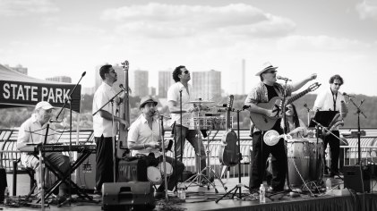 Sonido Costeno plays at Riverbank State Park in Washington Heights, NYC - part of the Outdoor Summer Music series.and-Riverbank-Staet-Park-Washington-Heights-NYC-Outdoor-Summer-Music-Series-concert