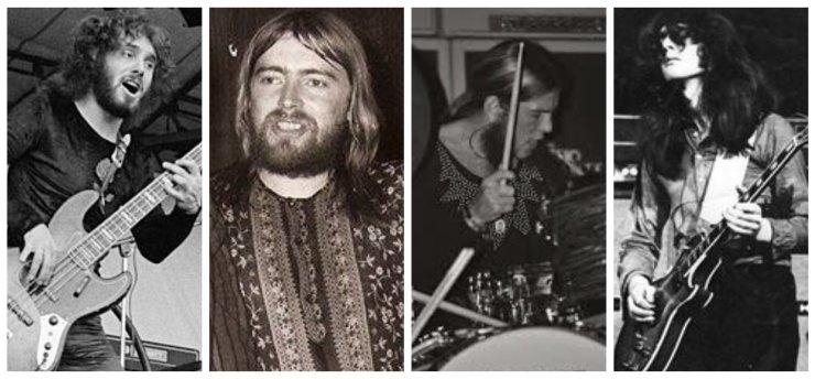 Louis, Keith, Bobby y Martin de Armageddon en 1975