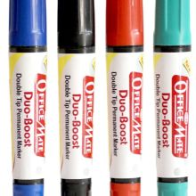 Soni-Office-Mate-Permanent-Marker-Double-Tip-Bullet-Chisel-Tip-Pack-of-10pcs-2