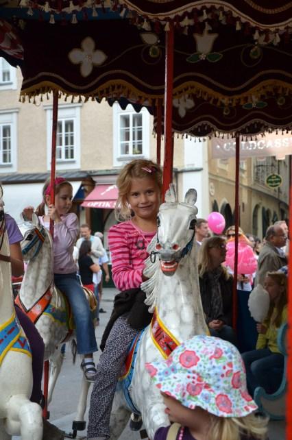 Karusell am Kirtag in Salzburg