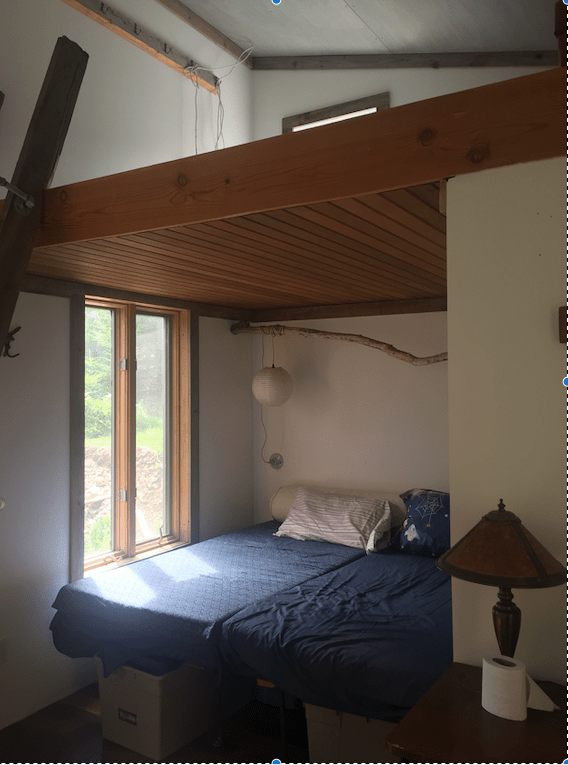 Interior of guest cabin