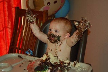 Ashton and his cake