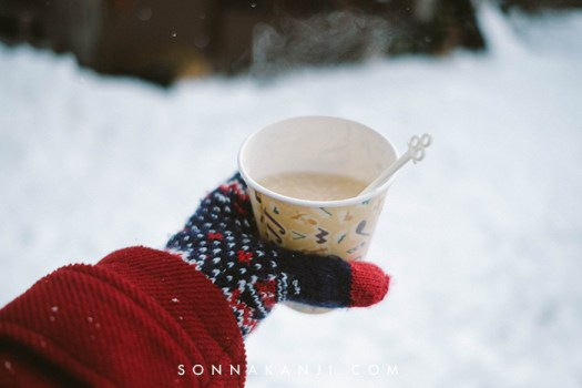 Amazake in the snow photo