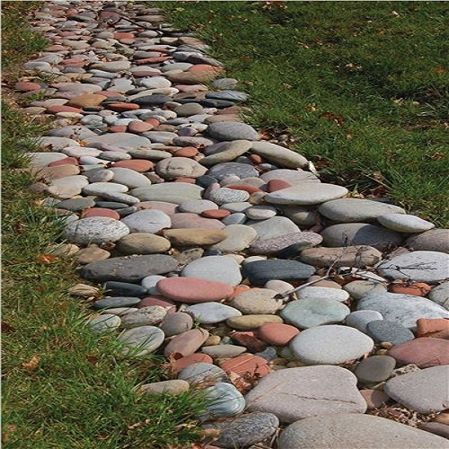 White Decorative Rock Landscaping
