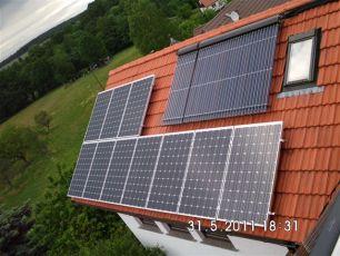 Photovoltaikanlage mit asola Modulen in Langenhain / LK Gotha